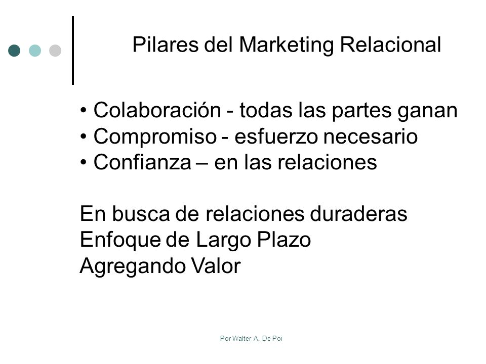 Pilares del Marketing Relacional