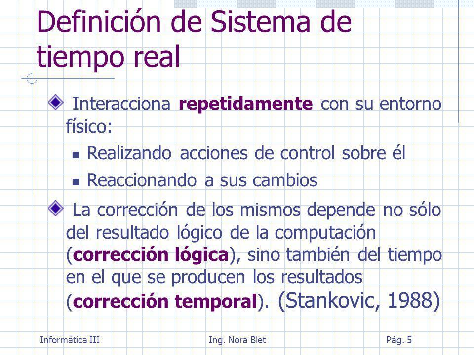 Definición de Sistema de tiempo real