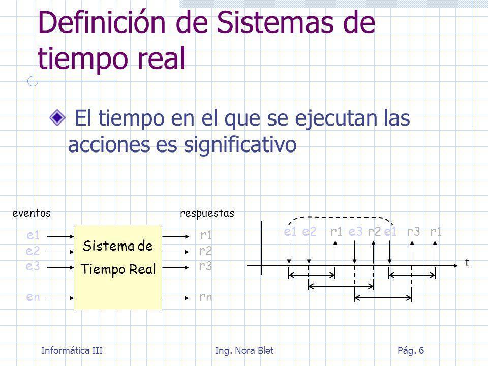 Definición de Sistemas de tiempo real