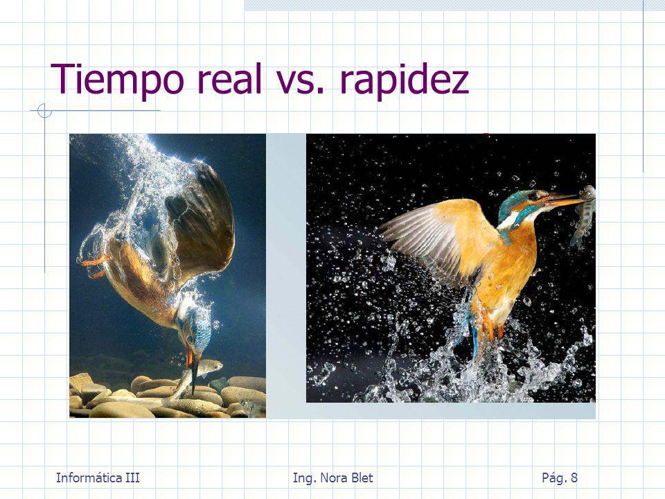Tiempo real vs. rapidez