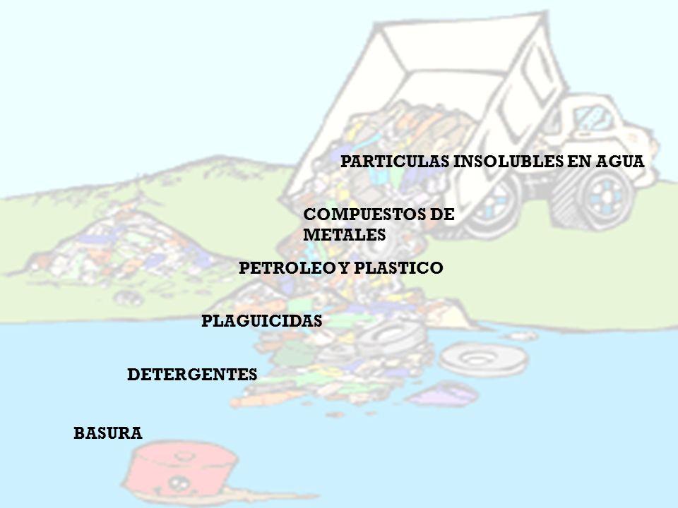 ¿QUÉ CONTAMINA EL AGUA PARTICULAS INSOLUBLES EN AGUA