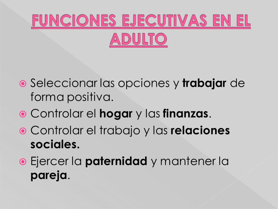 FUNCIONES EJECUTIVAS EN EL ADULTO