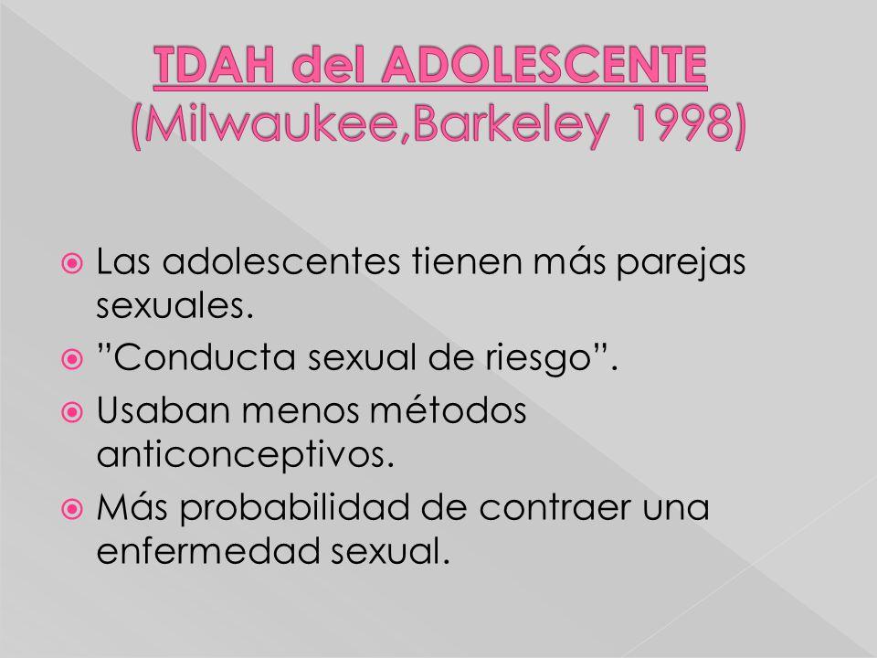 TDAH del ADOLESCENTE (Milwaukee,Barkeley 1998)