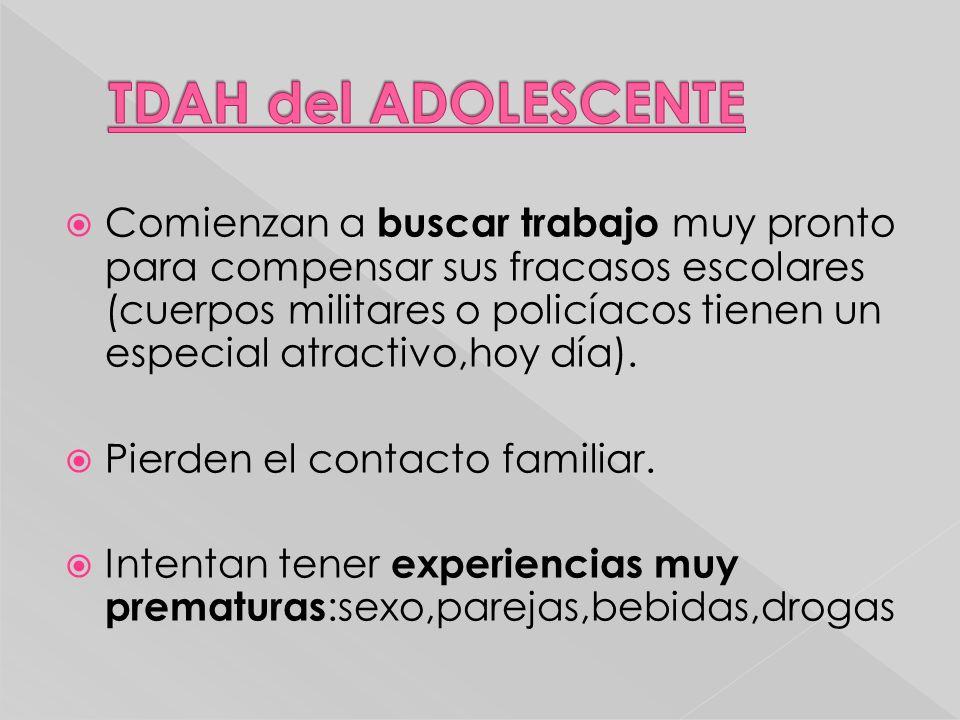 TDAH del ADOLESCENTE