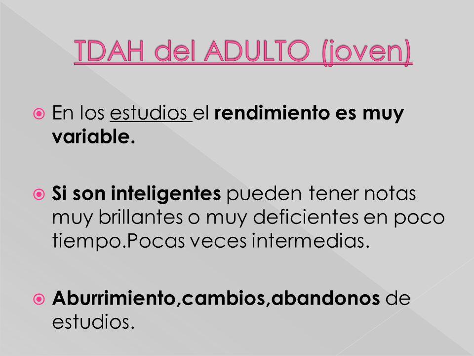 TDAH del ADULTO (joven)