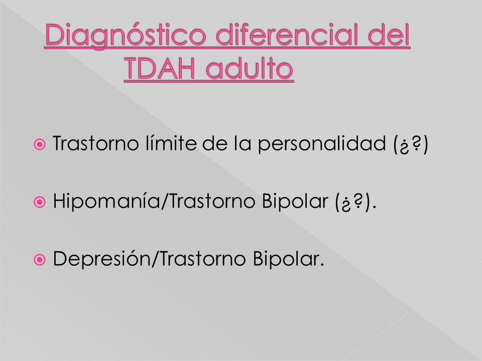 Diagnóstico diferencial del TDAH adulto
