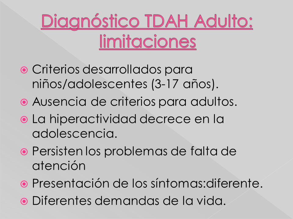 Diagnóstico TDAH Adulto: limitaciones