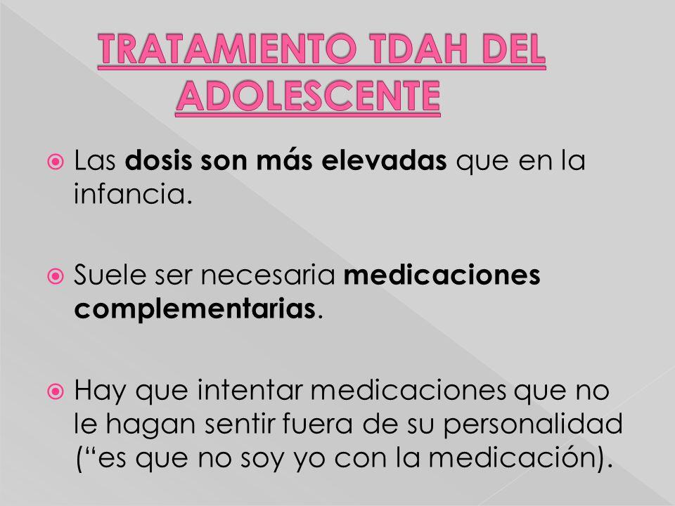 TRATAMIENTO TDAH DEL ADOLESCENTE