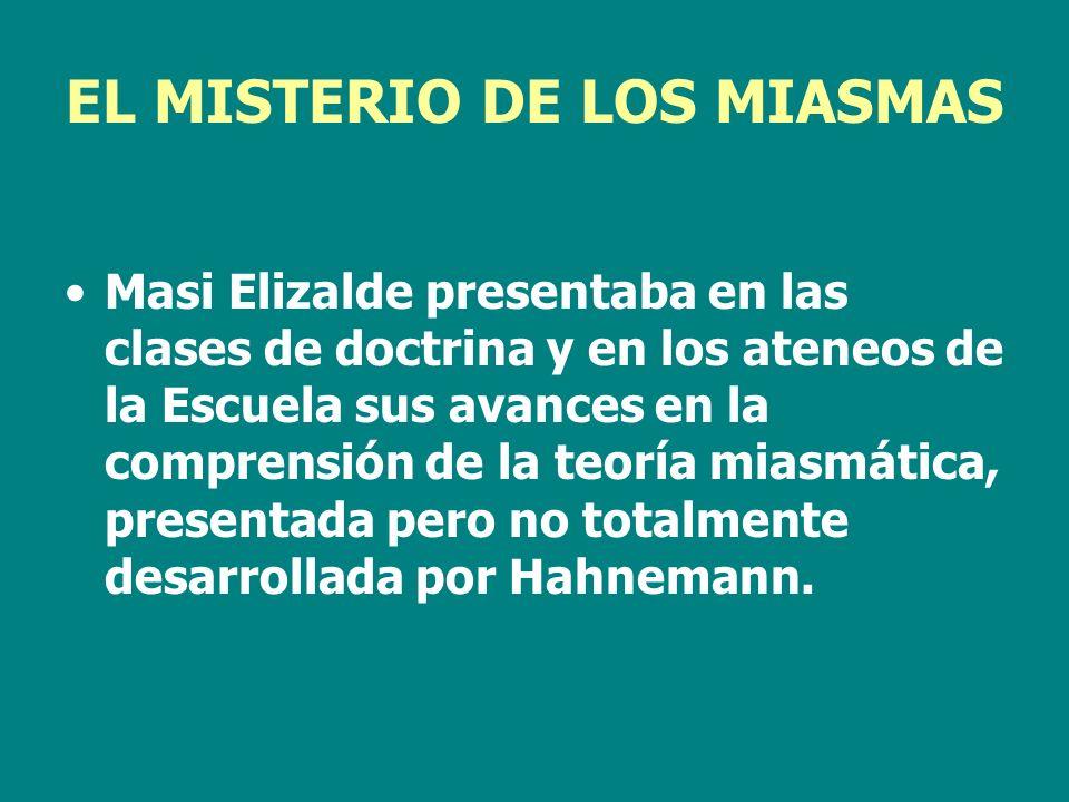 EL MISTERIO DE LOS MIASMAS