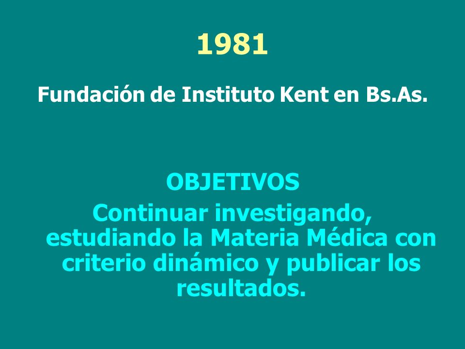 Fundación de Instituto Kent en Bs.As.