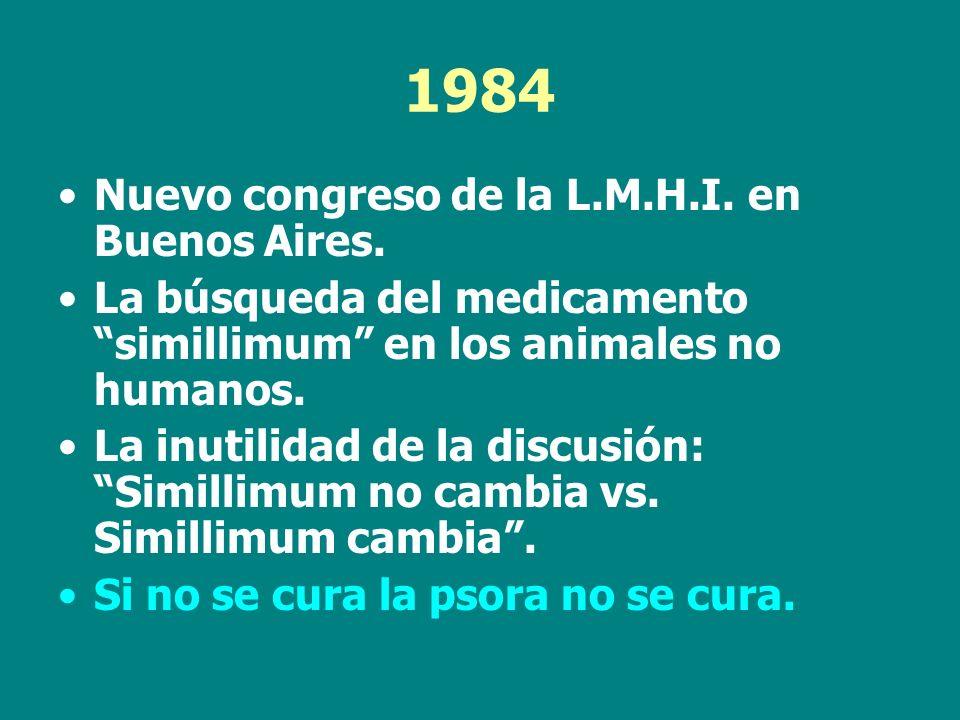 1984 Nuevo congreso de la L.M.H.I. en Buenos Aires.