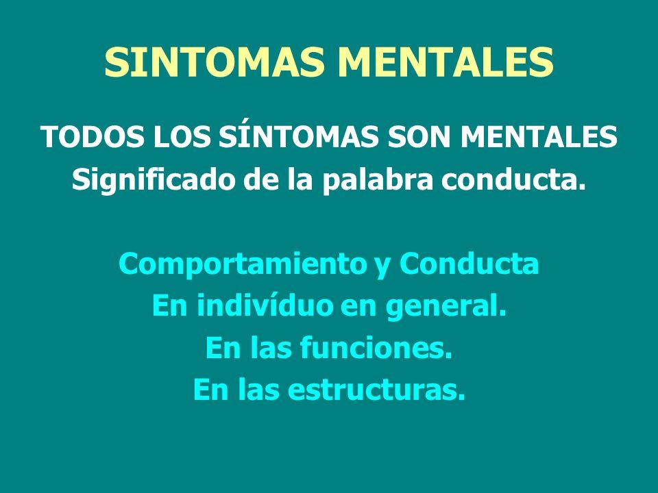 SINTOMAS MENTALES TODOS LOS SÍNTOMAS SON MENTALES