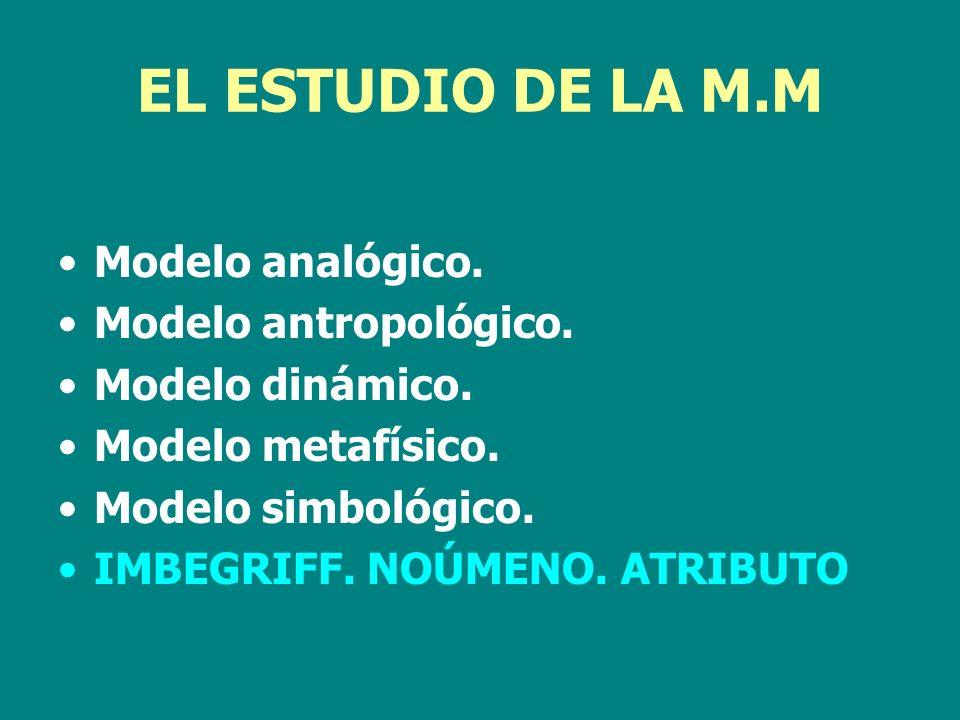 EL ESTUDIO DE LA M.M Modelo analógico. Modelo antropológico.