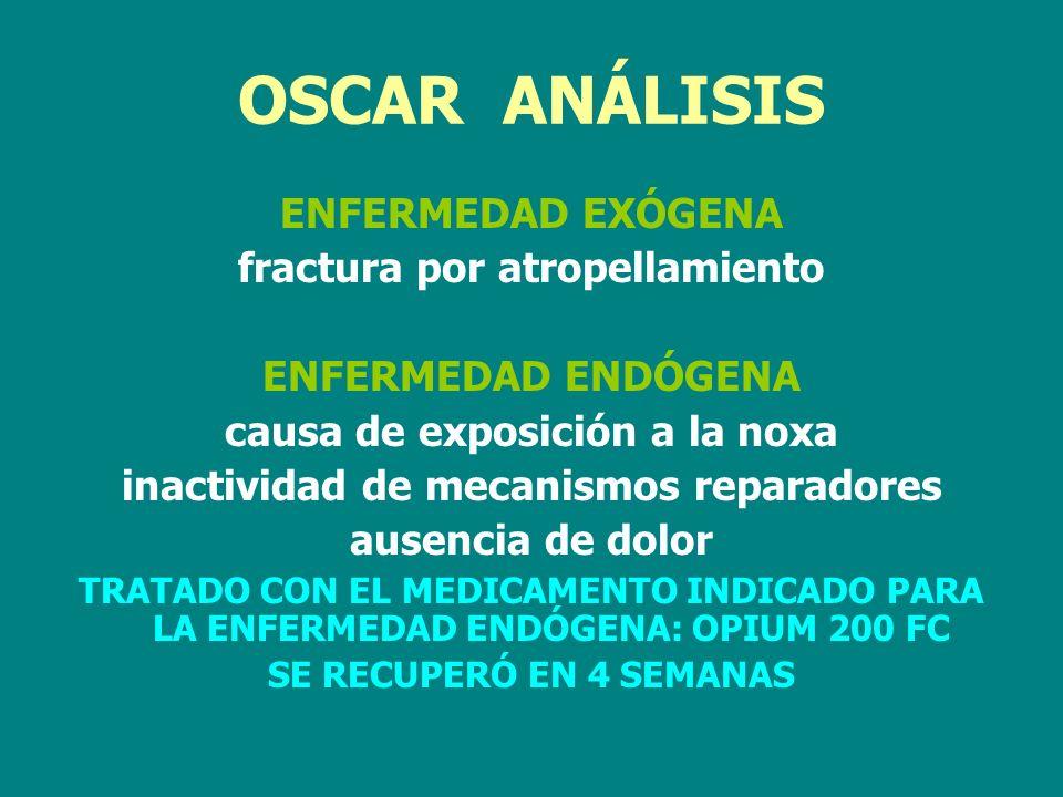 OSCAR ANÁLISIS ENFERMEDAD EXÓGENA fractura por atropellamiento