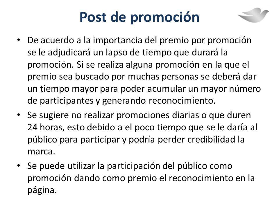 Post de promoción