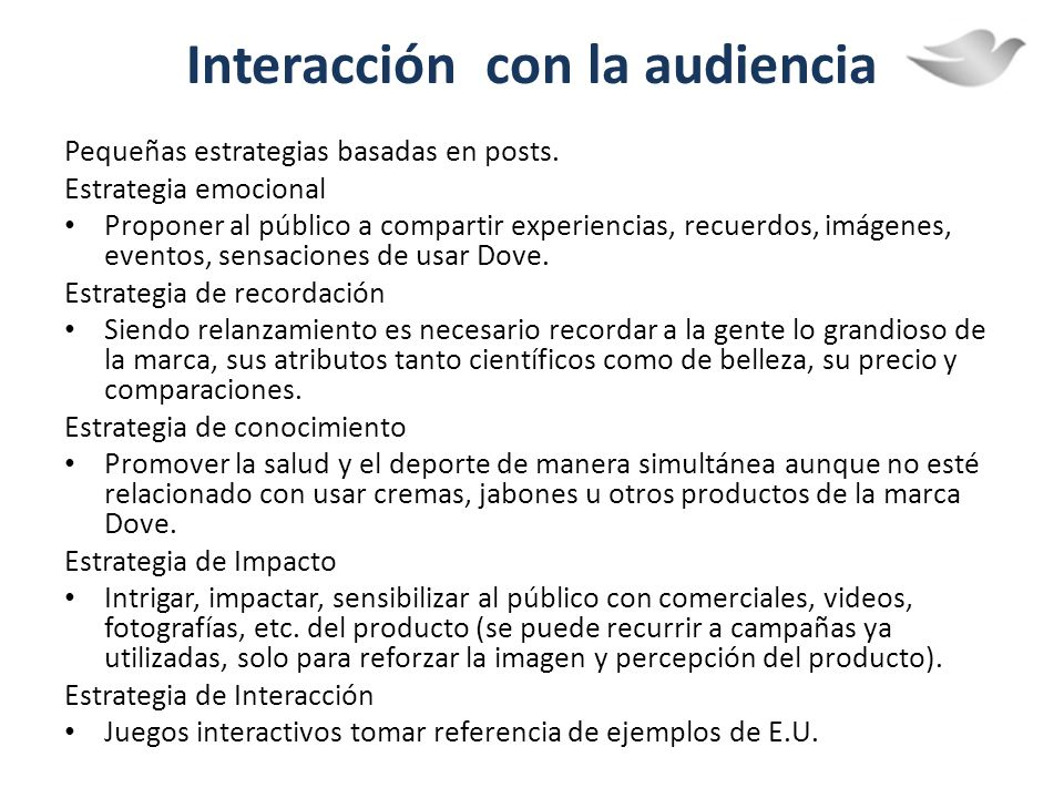 Interacción con la audiencia