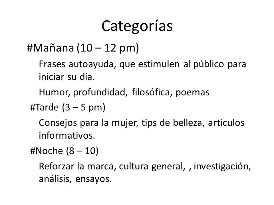 Categorías #Mañana (10 – 12 pm)