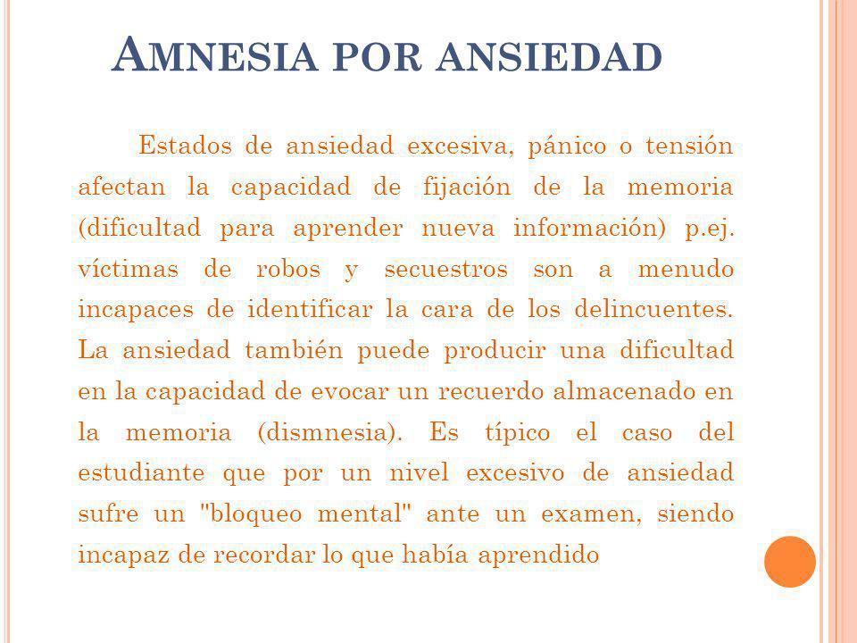 Amnesia por ansiedad