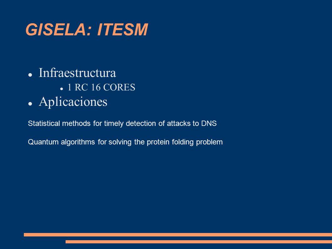 GISELA: ITESM Infraestructura Aplicaciones 1 RC 16 CORES