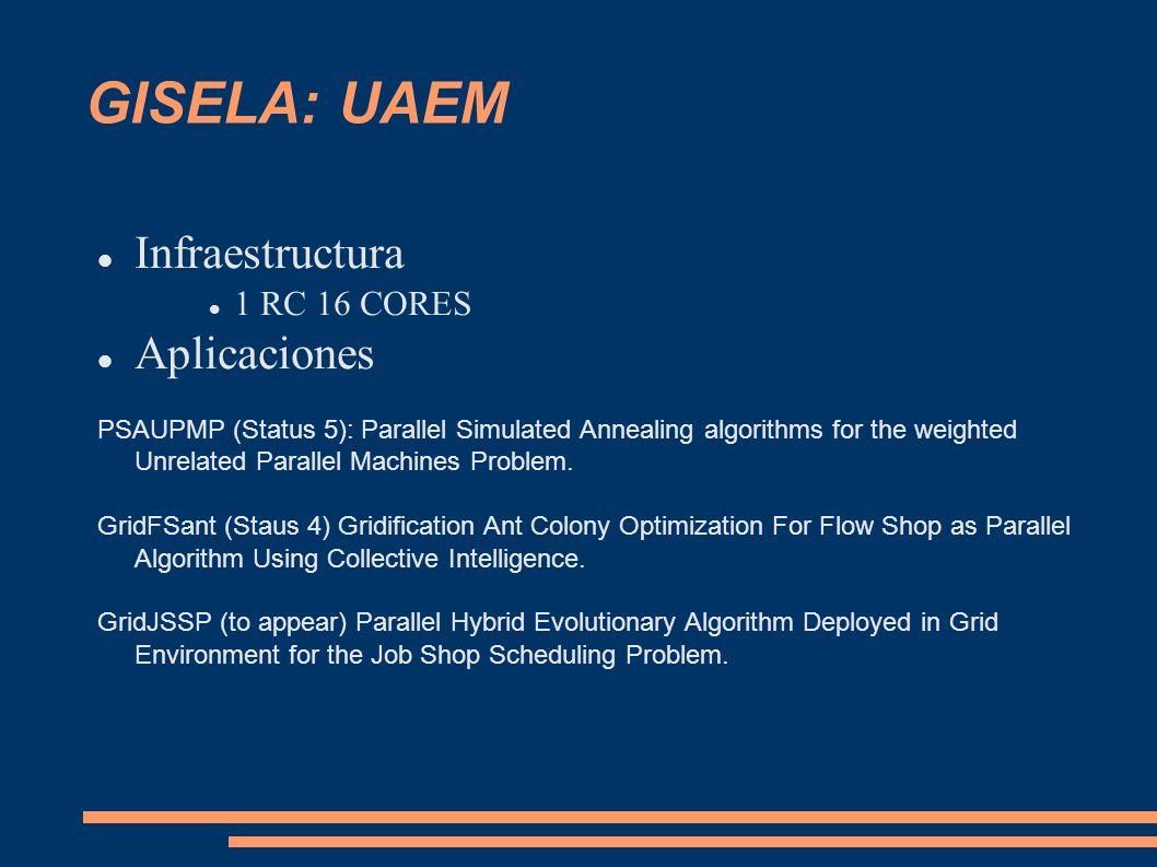 GISELA: UAEM Infraestructura Aplicaciones 1 RC 16 CORES