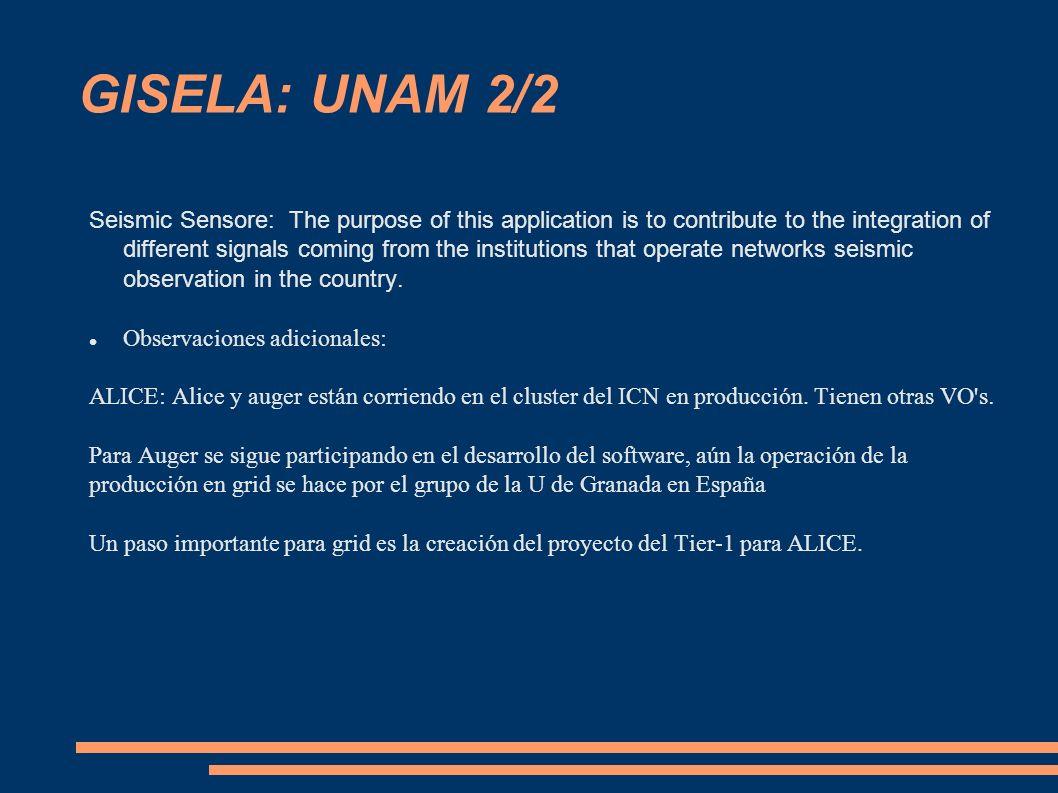 GISELA: UNAM 2/2