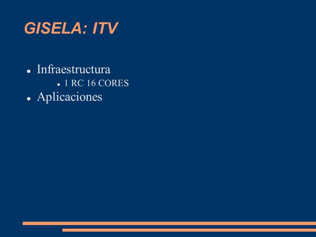 GISELA: ITV Infraestructura 1 RC 16 CORES Aplicaciones
