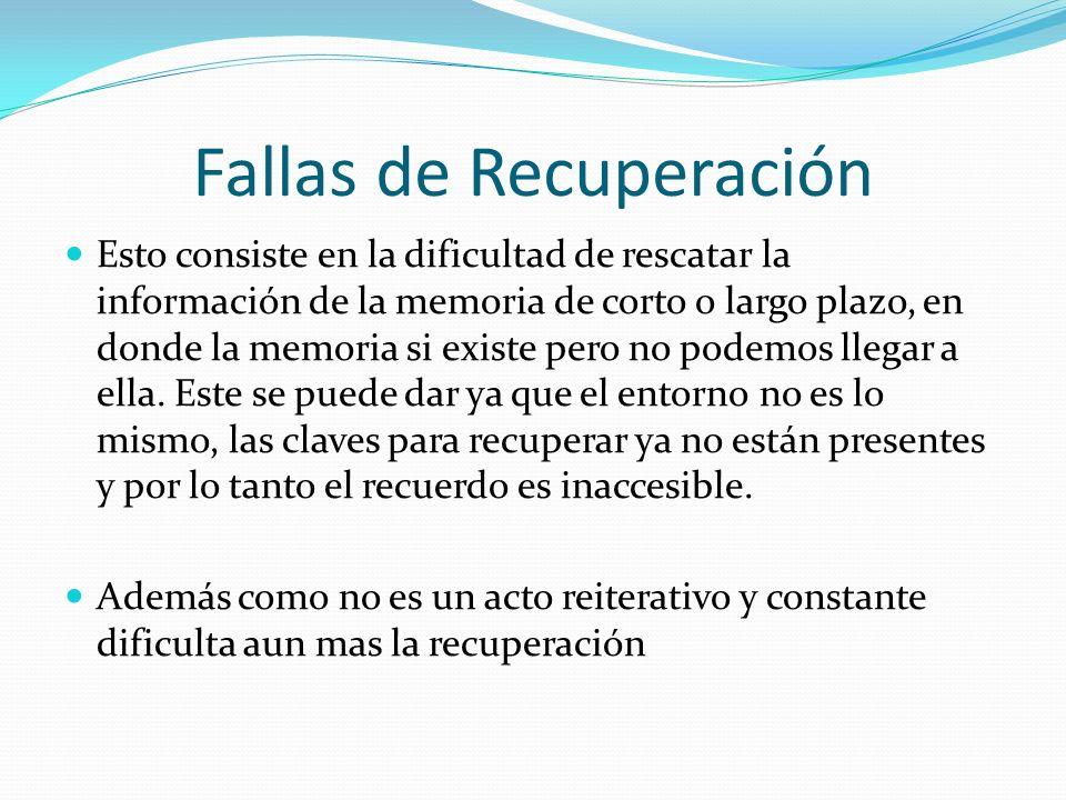 Fallas de Recuperación
