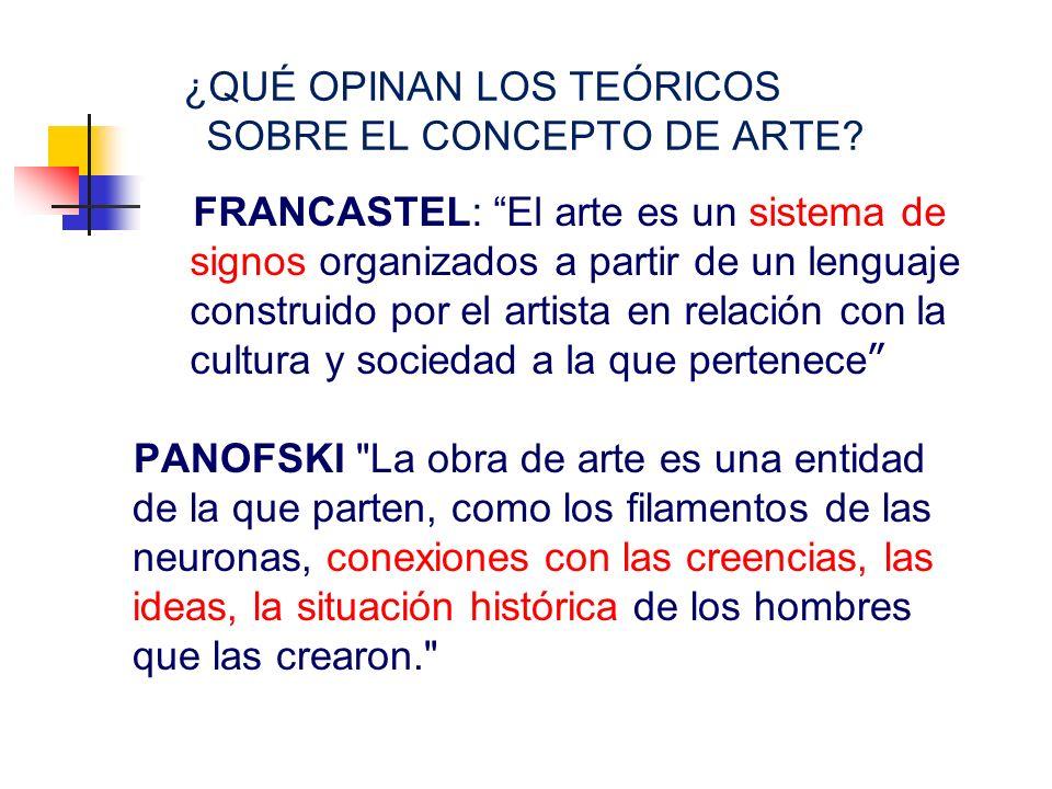 ¿QUÉ OPINAN LOS TEÓRICOS SOBRE EL CONCEPTO DE ARTE