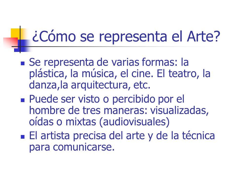 ¿Cómo se representa el Arte