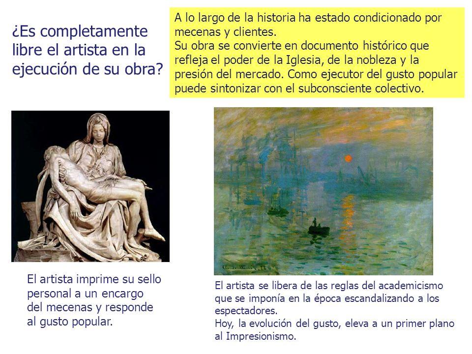 ¿Es completamente libre el artista en la ejecución de su obra