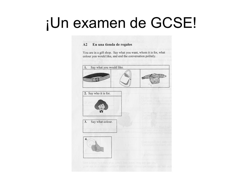 ¡Un examen de GCSE! Boost their confidence – they can do this now!!!