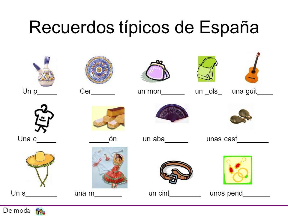 Recuerdos típicos de España
