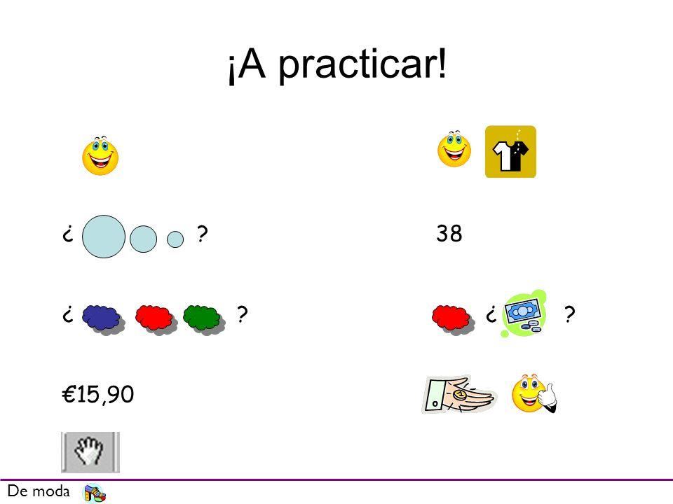 ¡A practicar! ¿ 38 ¿ ¿ €15,90 De moda