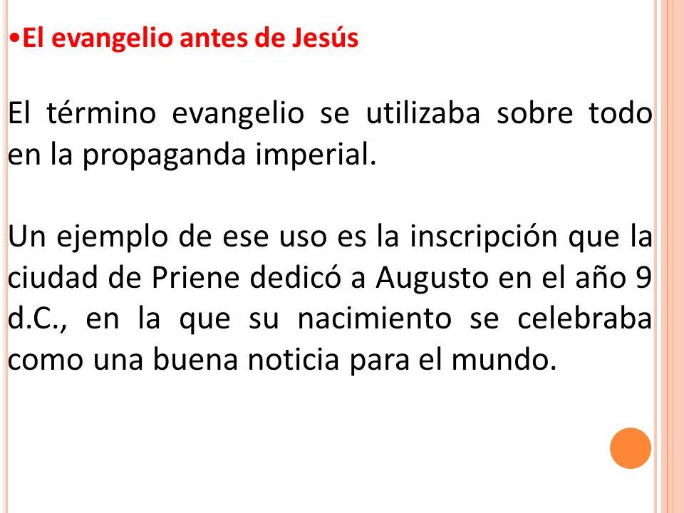 El evangelio antes de Jesús