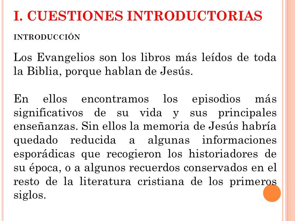I. CUESTIONES INTRODUCTORIAS