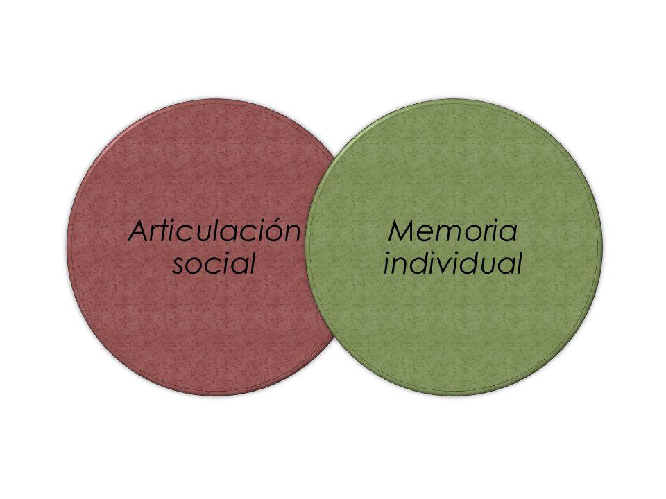 Articulación social Memoria individual
