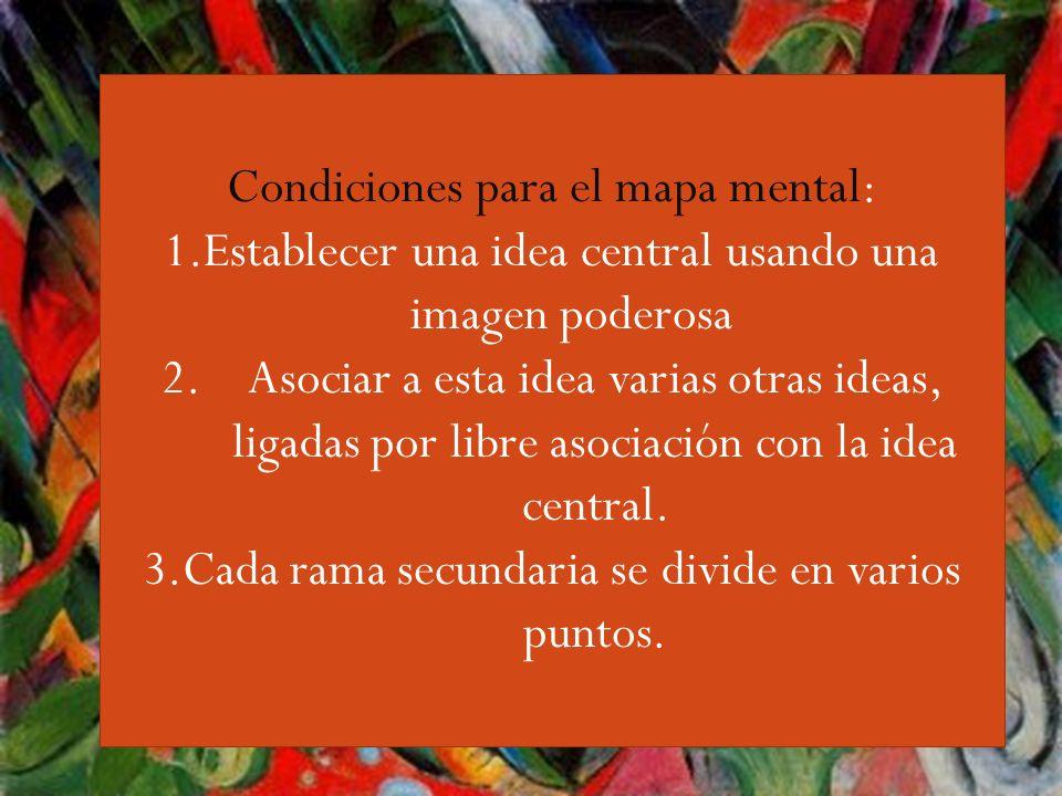 Guiri,,,, Condiciones para el mapa mental: