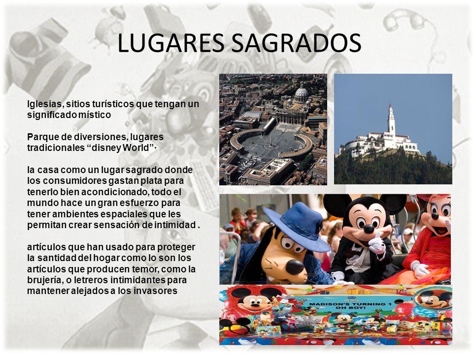LUGARES SAGRADOS Iglesias, sitios turísticos que tengan un significado místico. Parque de diversiones, lugares tradicionales disney World ·