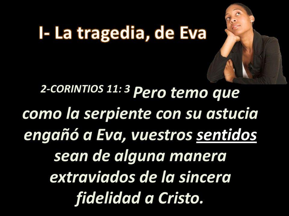 I- La tragedia, de Eva