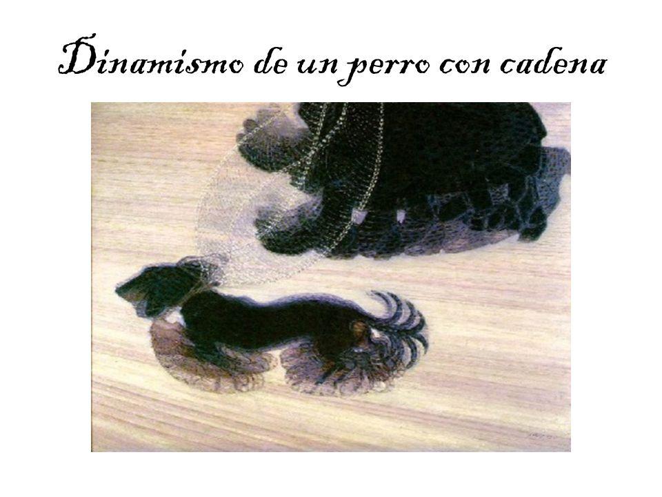 Dinamismo de un perro con cadena