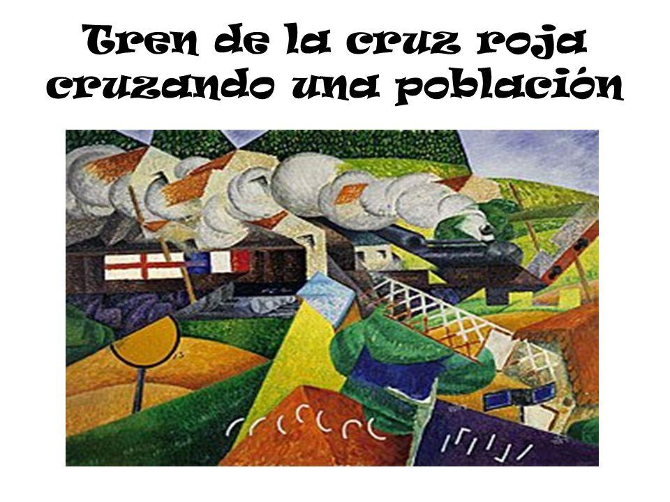 Tren de la cruz roja cruzando una población