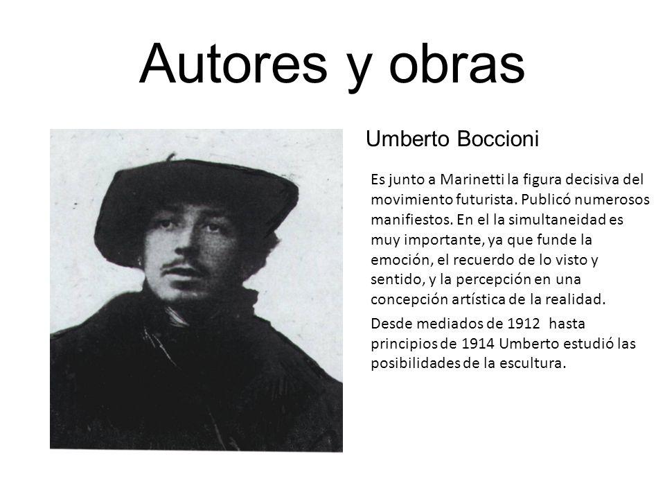 Autores y obras Umberto Boccioni