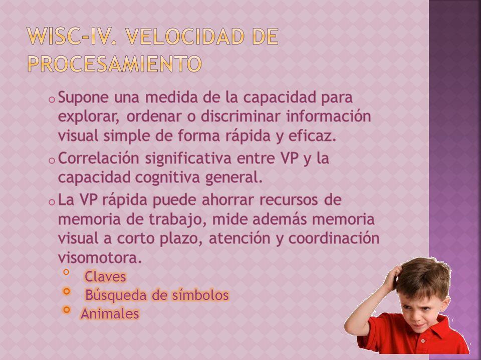 WISC-IV. Velocidad de procesamiento