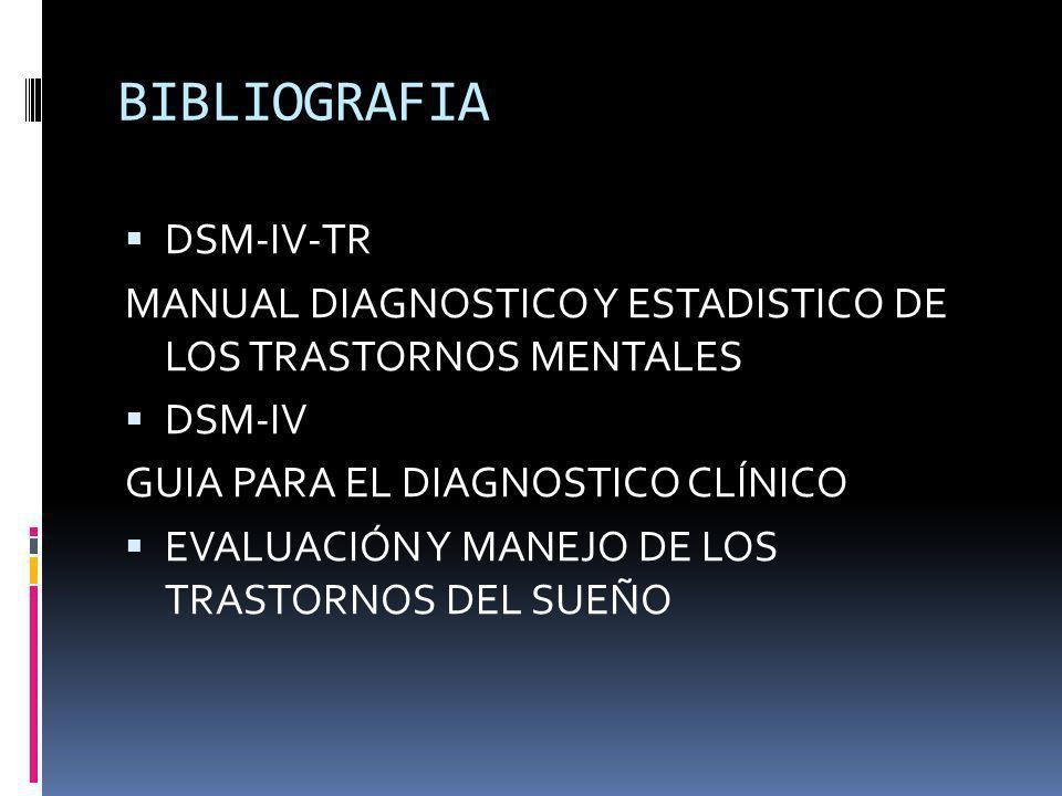 BIBLIOGRAFIA DSM-IV-TR