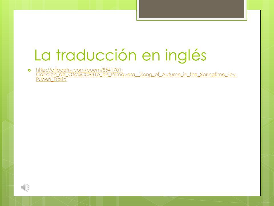La traducción en inglés