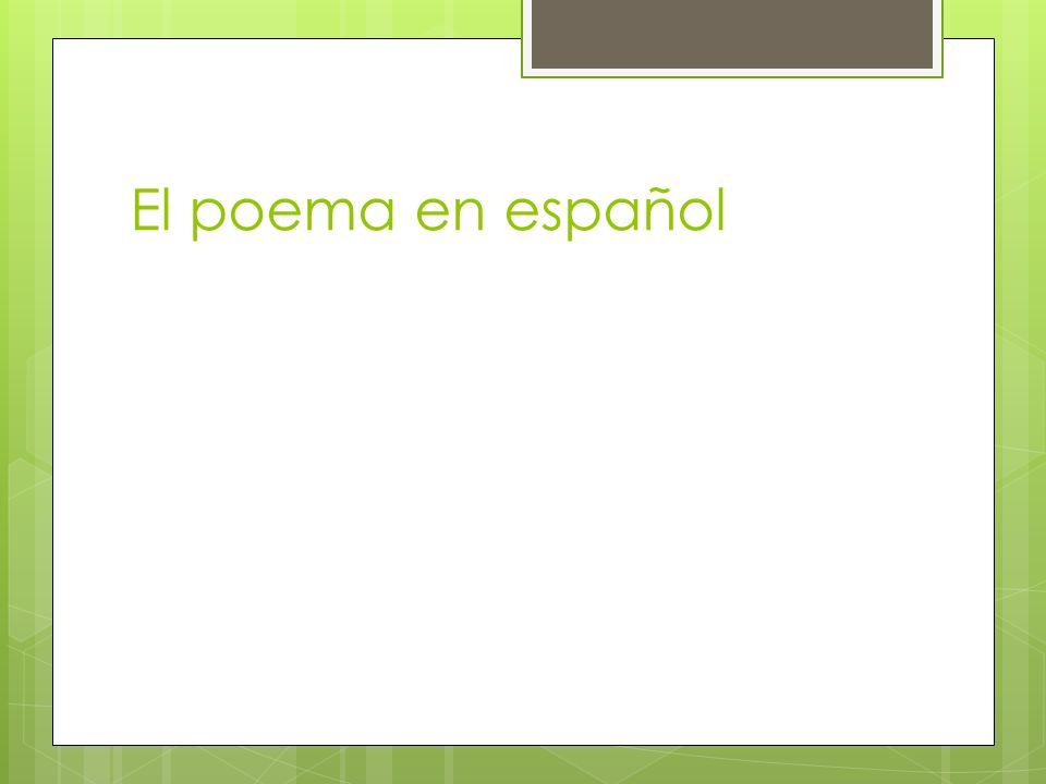 El poema en español