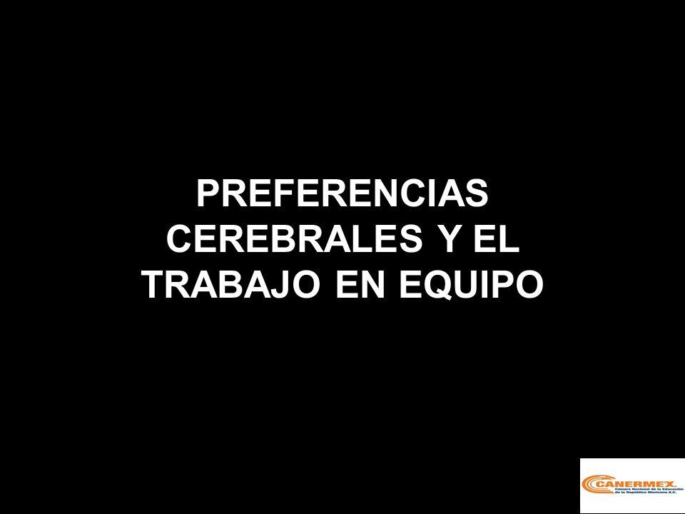 PREFERENCIAS CEREBRALES Y EL TRABAJO EN EQUIPO
