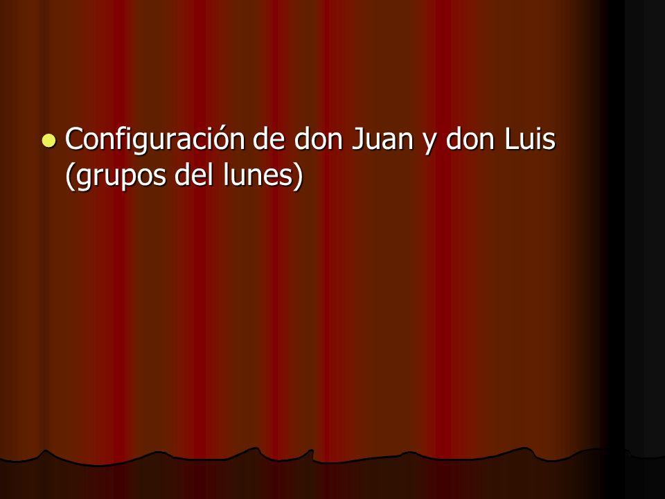 Configuración de don Juan y don Luis (grupos del lunes)
