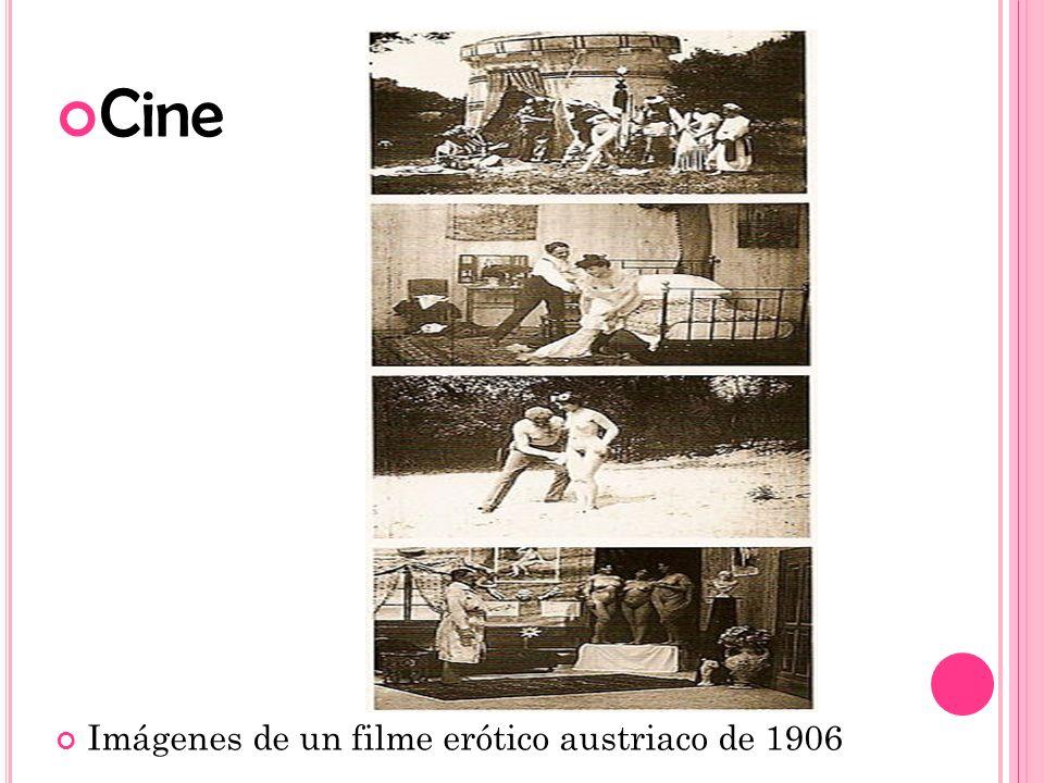 Cine Imágenes de un filme erótico austriaco de 1906