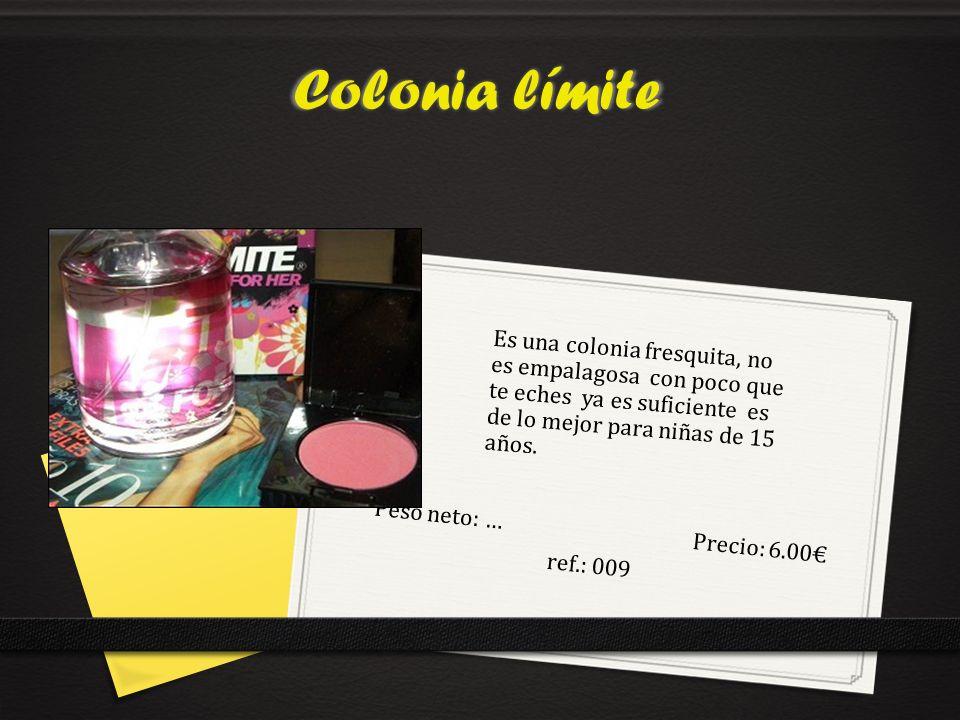 Peso neto: … Precio: 6.00€ ref.: 009